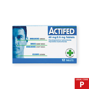 Picture of Actifed Multi Action Tablets 12s (P) - 0146886
