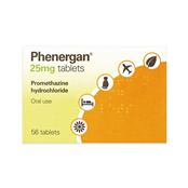 Picture of Phenergan Tablets 25mg 56's (P) - 0216697