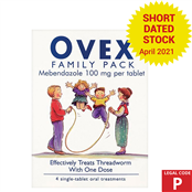 Picture of Ovex Tablets F/Pack 4 (P) S/Date 4/21 - 2059558SD