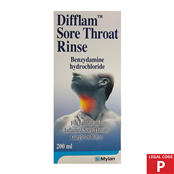 Picture of Difflam Throat & Mouth Wash 200ml (P) - 2240398