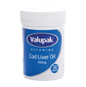 Picture of Valupak Cod Liver Oil Caps 400mg 30s - 2509206