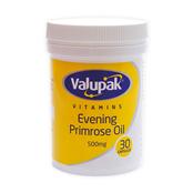 Picture of Valupak E/Primrose Oil Caps 500mg 30s - 2509594