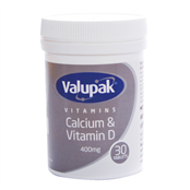 Picture of Valupak Calcium & Vitamin D 400mg PK30 - 2509610