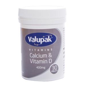 Picture of Valupak Calcium & Vitamin D 400mg PK30 - 2509610