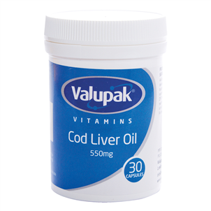 Picture of Valupak Cod Liver Oil Caps 550mg 30s - 2807956