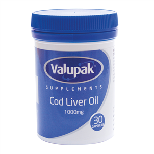 Picture of Valupak Cod Liver Oil Caps 1000mg 30s - 2942845