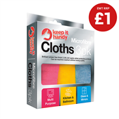 Picture of Microfibre Cleaning Cloths Pack 3 - 305989