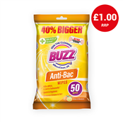 Picture of Buzz Anti-Bacterial Wipes Lem/Mand 50s - 319363