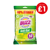 Picture of Buzz Anti-Bacterial Wipes App/Apri 50s - 319364