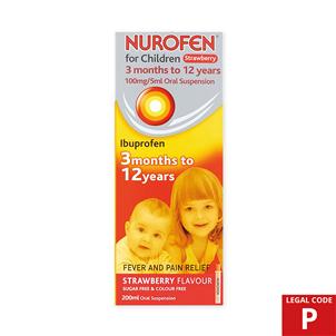 Picture of Nurofen Children Susp St/Berry 200ml (P) - 3267796