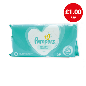 Picture of Pampers Baby Wipes Sensitive 52's - 3846573