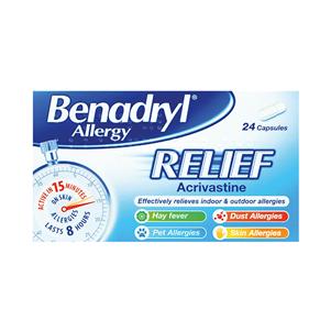Picture of Benadryl Allergy Relief 24's - 4066221