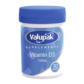 Picture of Valupak Vitamin D3 1000iu PK30 Caps - 4091831