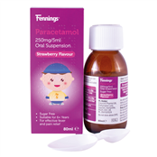 Picture of Fennings Para Oral Susp 250mg/5ml 80ml - 4135026