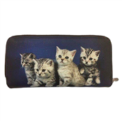Picture of Animal Print Purse With Kittens - ANPP02