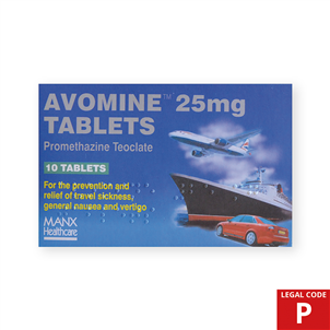Picture of Avomine 10's 25mg (P) - AV02