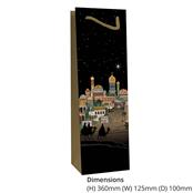 Picture of Bethlehem Design Bottle Gift Bag - BUG0131