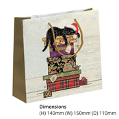 Picture of Cats On Boxes Perfume Gift Bag - BUG0153