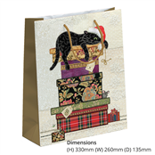 Picture of Cats On Boxes Design Large Gift Bag - BUG0155