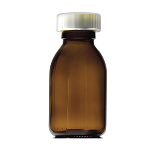 Picture of 150ml Capped Round Glass Bottles - GE150