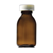 Picture of 500ml Capped Round Glass Bottles - GE500
