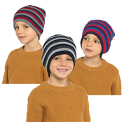 Picture of Childrens Striped Beanie Hat - GL165