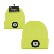 Picture of Adults Yellow LED Beanie Hat - GL622