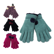 Picture of Ladies Gloves With Rose Assorted - GLOVE04