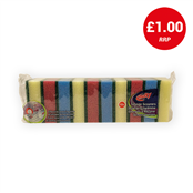 Picture of Multy Sponge Scourers Assorted Pack 10 - HOMUL014