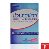 Picture of Ibuprofen Tablets 200mg 96s (P) - IBU006B