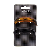 Picture of LM Black/Brown Barrette 2 Pc - LM4519