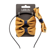 Picture of LM Bow Alice Band & Clip Set - LM4535