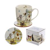 Picture of Dog Design Ceramic Mug & Coaster Set - MUGC02
