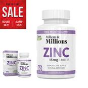 Picture of Millions & Millions Zinc 15mg PK60 - P2549