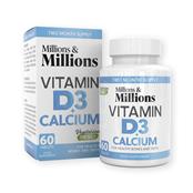 Picture of Millions & Ms Calcium 400mg+Vit D3 200iu - P2614