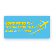 Picture of Covid PCR Test For Travellers Labels - PCRALERTS