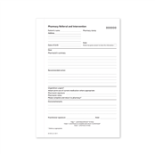 Picture of Pharmacy Referral/Intervention Book E&W - PRF050