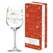 Picture of Christmas Wine Glass In Gift Box - TUR0172