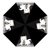 Picture of Animal Print Umbrella With Westie - UMB24A